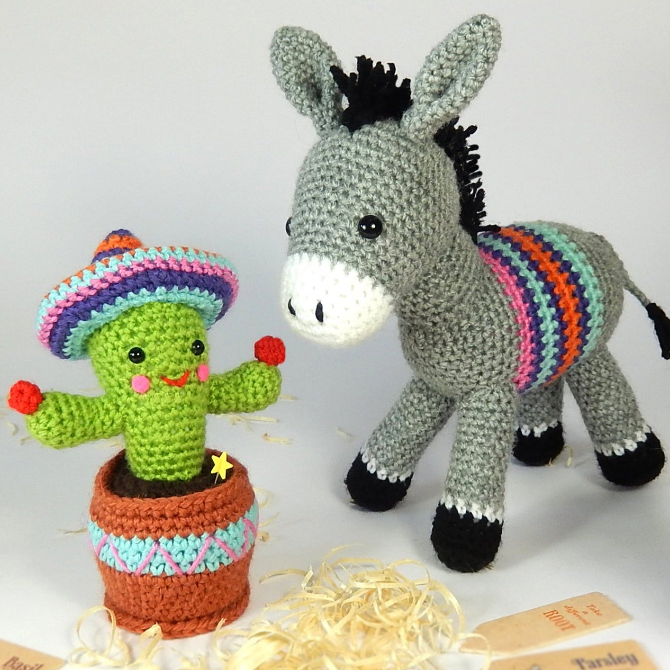 Dante the Donkey and Carlos the Cactus - Amigurumi Crochet Pattern ...   1342x1342